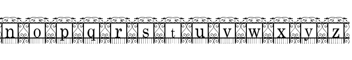 The Garden Font LOWERCASE