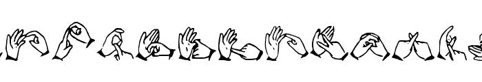 The Hands of Deaf Font UPPERCASE