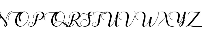 The Heart of Everything Demo Font UPPERCASE