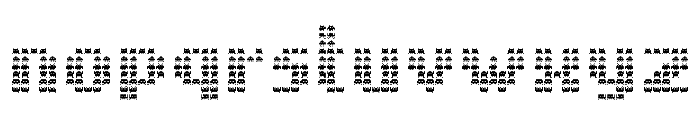 The Invaders Regular Font LOWERCASE