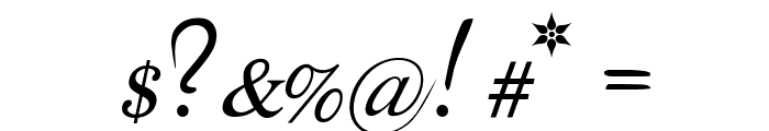 The Last Font I'm Wasting On You Italic Font OTHER CHARS