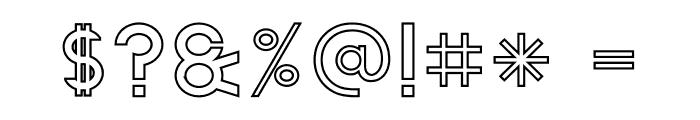 The Lekker Outline Font OTHER CHARS