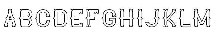 The Lekker Outline Font UPPERCASE