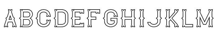 The Lekker Outline Font LOWERCASE