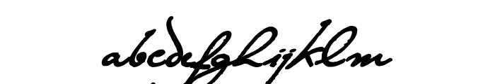 The Loyalist Extra Bold Font LOWERCASE