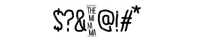 The Minima Font OTHER CHARS