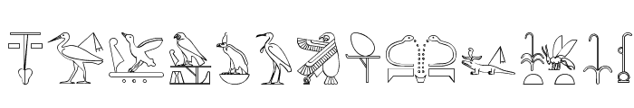 The Nile Song Font LOWERCASE