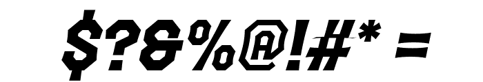 The October Two Italic Font OTHER CHARS