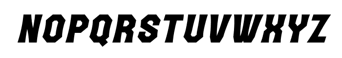 The October Two Italic Font LOWERCASE