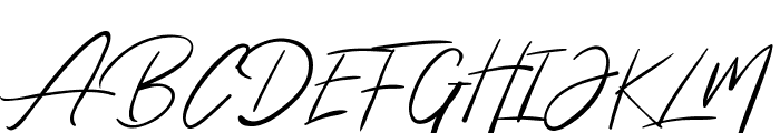 The Queenthine Font UPPERCASE