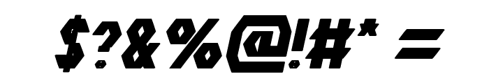 The Quick Bold Italic Font OTHER CHARS