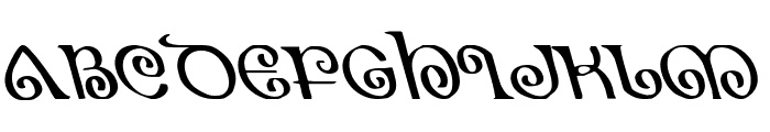 The Shire Leftalic Font UPPERCASE
