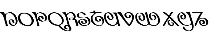 The Shire Leftalic Font LOWERCASE