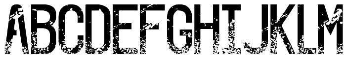 The Sound of Truth Grunge Font LOWERCASE