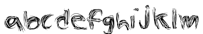 The Spaz Font LOWERCASE