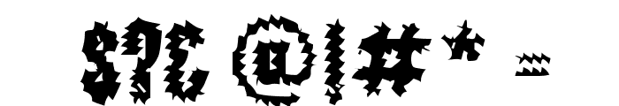 The World's Fiery Demise Font OTHER CHARS