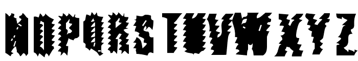 The World's Fiery Demise Font UPPERCASE