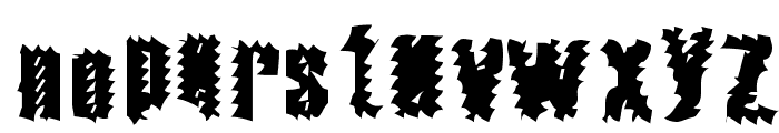 The World's Fiery Demise Font LOWERCASE