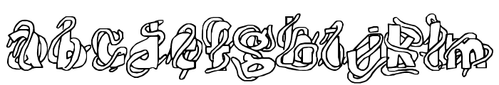 The Worms Font LOWERCASE