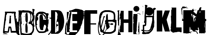 The quick monkey Font LOWERCASE