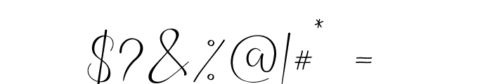 TheBellaria-Regular Font OTHER CHARS