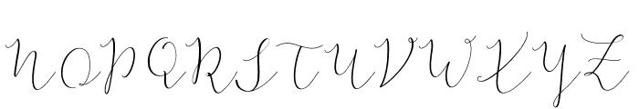 TheBellaria-Regular Font UPPERCASE