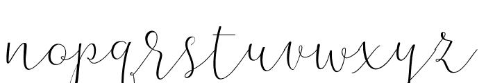 TheBellaria-Regular Font LOWERCASE
