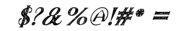 TheDarkTitanVintageItalic Font OTHER CHARS