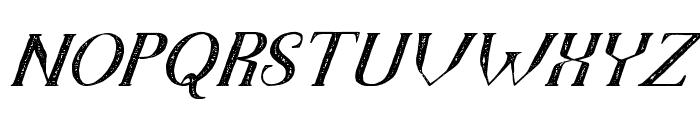 TheDarkTitanVintageItalic Font UPPERCASE