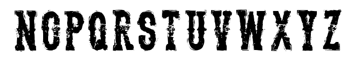 TheDeadliestSaloon Font UPPERCASE