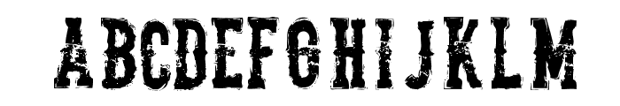 TheDeadliestSaloon Font LOWERCASE
