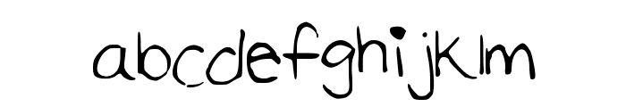 TheFaultInOurStars Font LOWERCASE