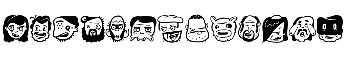 TheFreakyFace2 Font UPPERCASE