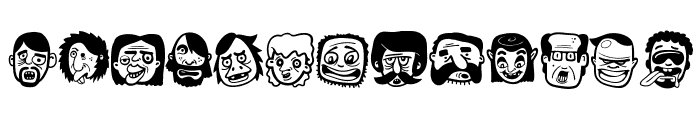 TheFreakyFace Font UPPERCASE