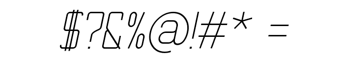 TheMatic Light Italic Font OTHER CHARS