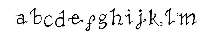 TheNotSoMiserable Font LOWERCASE