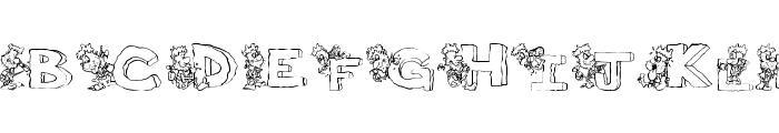 ThePerfectMan Font UPPERCASE