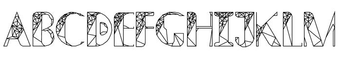 ThePolygonal-ZulEan Font UPPERCASE