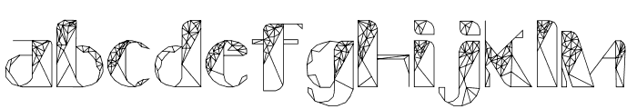 ThePolygonal-ZulEan Font LOWERCASE