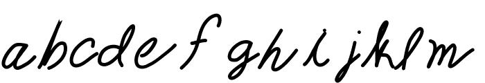 TheQueenisHavingFun Font LOWERCASE