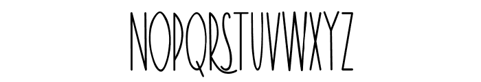 TheRamble-Bold Font UPPERCASE