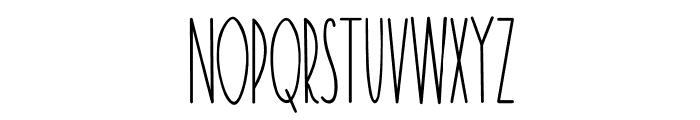 TheRamble-Bold Font LOWERCASE