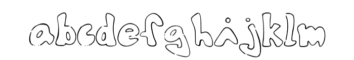 TheShyFamilyoutlinefont Font LOWERCASE