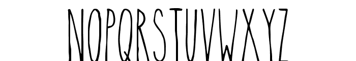 TheSkinny Font LOWERCASE