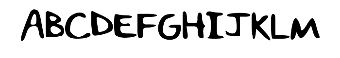 The_Leyna Font UPPERCASE