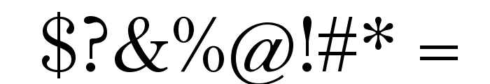 Theano Old Style Regular Font OTHER CHARS