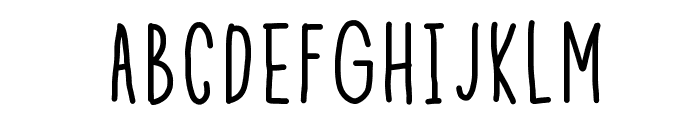 Theeny Font UPPERCASE
