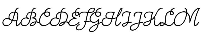 Theodista Decally Italic Font UPPERCASE