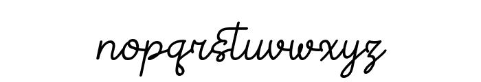Theodista Decally Italic Font LOWERCASE