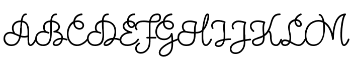 Theodista Decally Font UPPERCASE